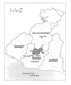 Figure 1. Izalco and western El Salvador.
