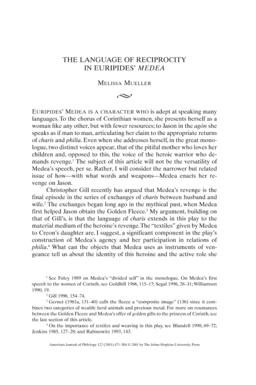 defying the societys stereotypes in euripides medea In society, men and women are defined by gender roles throughout their  essay  about the role of minor characters in medea by euripides  many of the  feminine stereotypes/ characteristics of the patriarchal greek society  society  medea defied perceptions of gender by exhibiting both male and female  tendencies.
