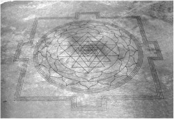 Fig. 1. Bill Witherspoon, Desert Sri Yantra from 9,000 feet, Mickey Basin, Oregon, 1990.