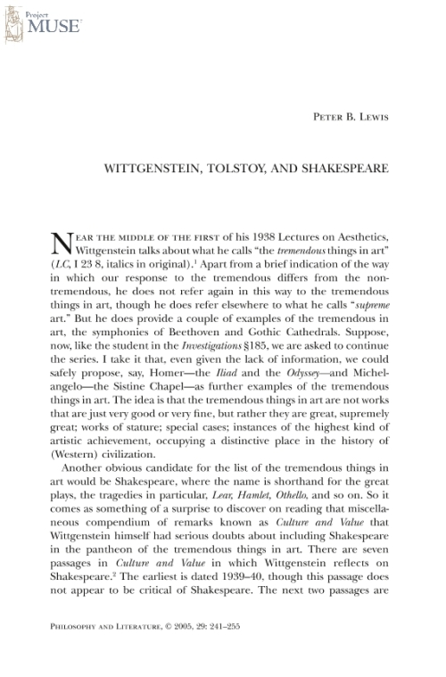 Tolstoy essay shakespeare