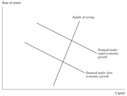 Figure 1. The Supply and Demand of Capital and the Rate of Return