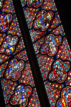 Fig. 14. Details of a Stained Glass Window in Ste. Chapelle, Paris []