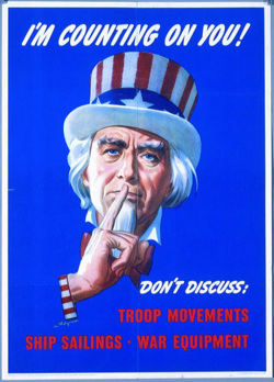 Fig. 15. Uncle Sam Urges Silence during World War II []