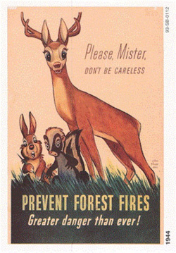 Fig. 17. Walt Disney's Bambi Predated Smokey in the Campaign to Prevent Forest Fires (1944) []
