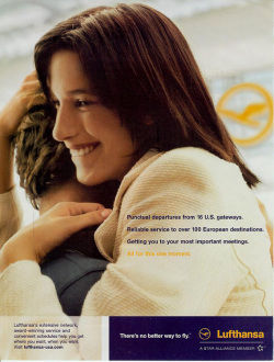 Fig. 54. As a Mother Is to Her Child, Lufthansa Is to Its Passengers []