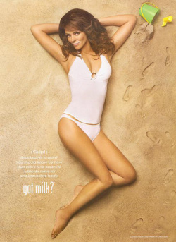 Fig. 72. Actress Elizabeth Hurley with a Milk Moustache []