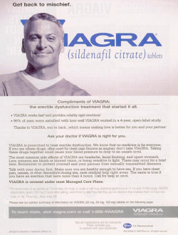 Fig. 78. This 2004 Ad Tells a Man He Can Get Back to Mischief with Viagra []