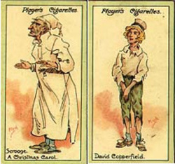 Fig. 5. Player's Cigarette Cards (1912) with Dickens Characters []