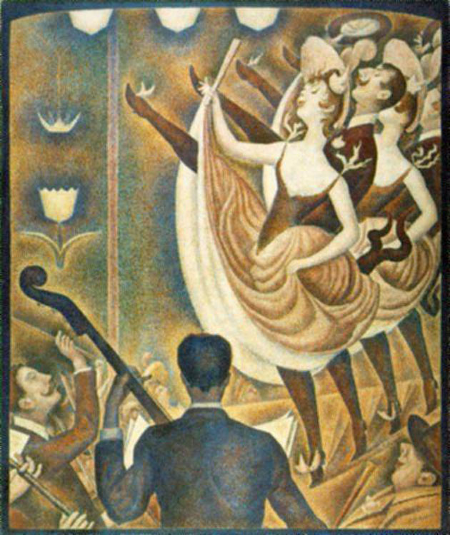 Seurat's La Chahut (1890) Was Influenced by Cherét's Les Girard for Folies-Bergère [Source]