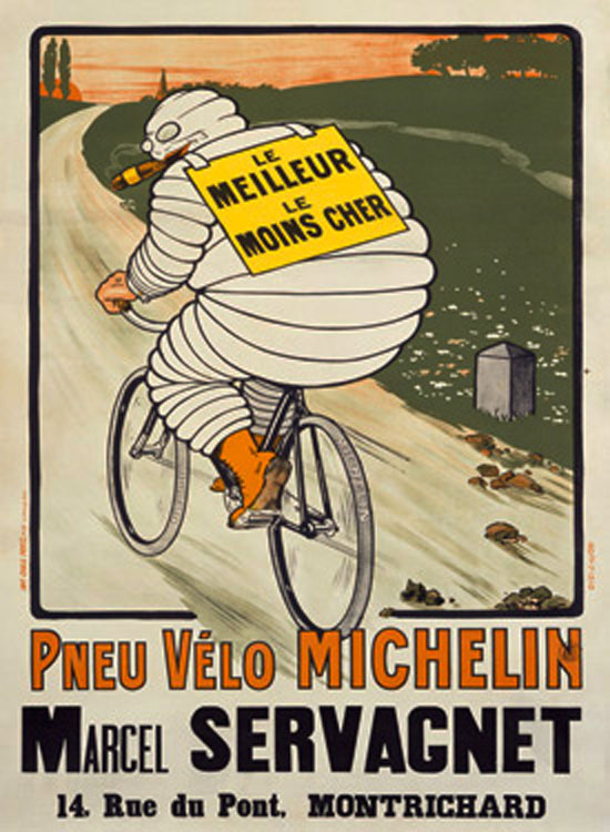 O'Galop (Marius Rossillon) Introduced the Roguish Cigar-Smoking Michelin Man in 1898 [Source]