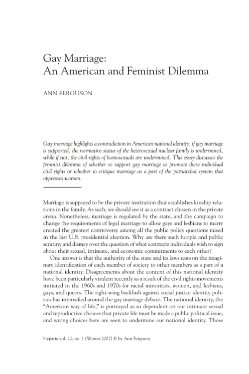 feminist critique of love essay This sample feminist theories research paper  what do we love  like every other societal arena, became not only an object of contested feminist critique.