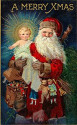 Fig 1. The Two Icons of Christmas: Jesus and Santa Claus[]