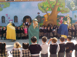 Fig. 23. The Three Kings Distribute Presents at a Mexican School[]