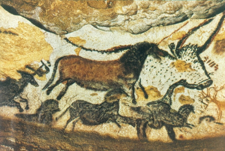 Neolithic Painting on Cave Wall, Lascaux, France (ca. 15–13,000 B.C.E.) [Source]