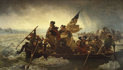Fig. 3. Emanuel Gottlieb Leutze: George Washington Crossing the Delaware (1851) []