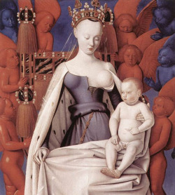 Fig. 5. Jean Fouquet: Virgin and Child Surrounded by Angels (c.1450) []