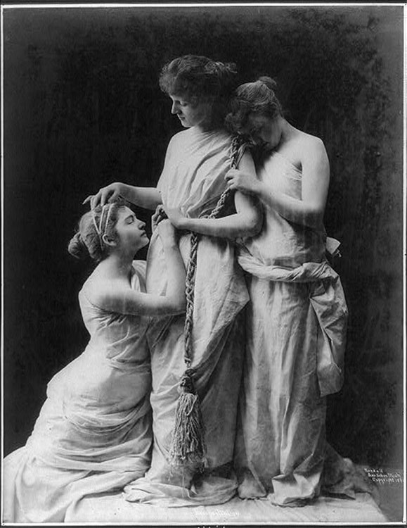 A 19th-Century Tableau Vivant [Source]