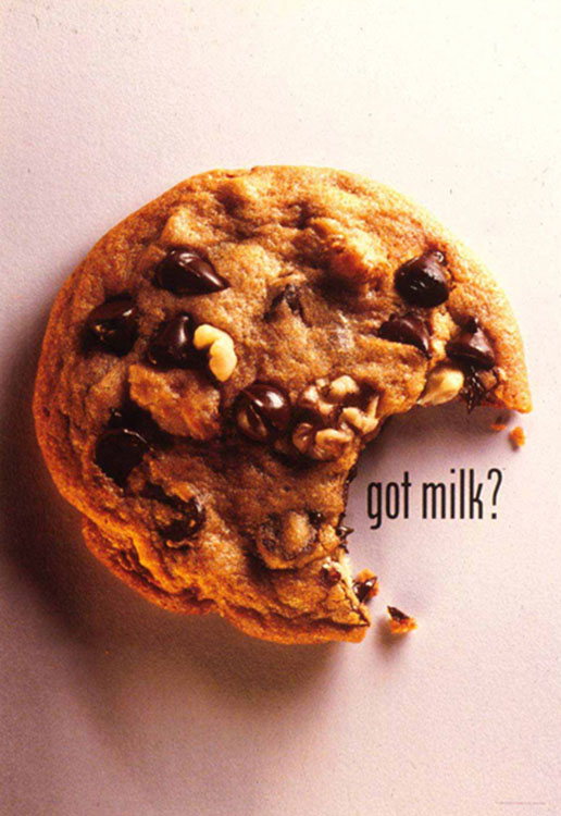 One of the Original Print Ads for the Got Milk? Campaign [Source]