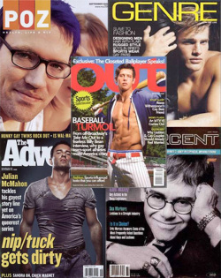 Fig. 35. Several National Gay Magazines Began Publication in the 1990s []