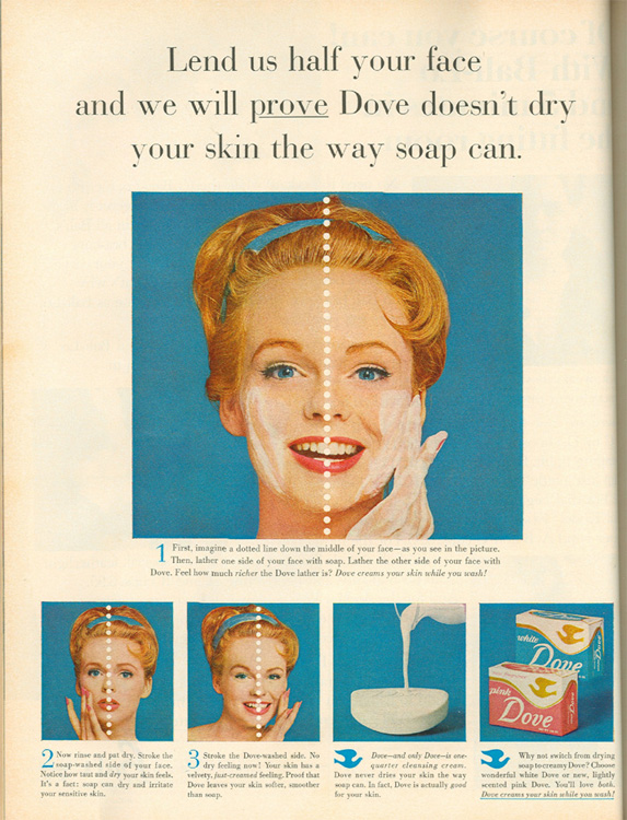 Fig. 8. This Dove Soap Ad Proclaims that the Product Contains One-Quarter Cleansing Cream []