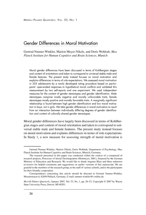 gender difference in motivation Gender differences in the workplace typically stem from social factors, which influence the behaviors of men and women some organizations welcome gender diversity and encourage the inclusion of .