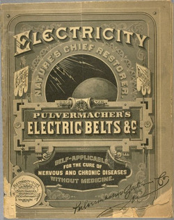 Fig. 8. This Ad Claims that Electricity Cures Nervous and Chronic Diseases (c. 1890) []