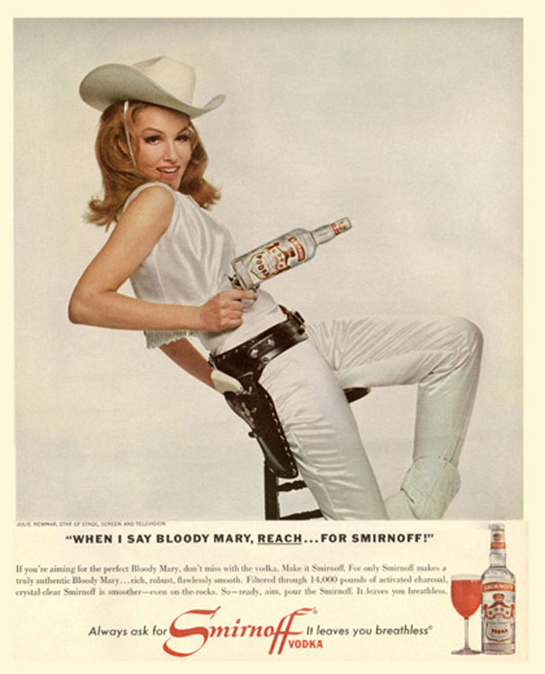 In the Past Many Ads for Alcoholic Beverages Used Celebrities (1966) [Source]