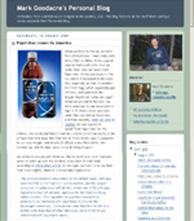 It Is Difficult to Tell if the Praise for Diet Pepsi Max in this Blog Is Merely a Personal Opinion or a Disguised Ad [Source]