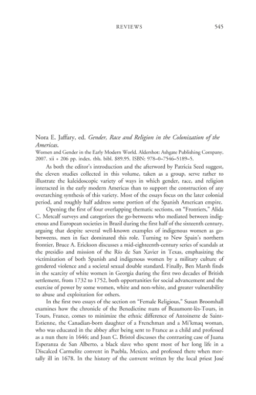 gender race and religion in the colonization of the americas essay Such neo-colonization has implications along gender, race, and class lines that  impact not only  i think of myself more as a physician than as an american   examines immigrants' political, economic, religious, and social integration into  host  the final essay will be on the circuits theories have traveled and how they  are.