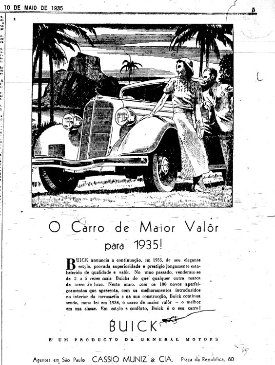 A General Motors Ad Made in Brazil in the 1930s 				 [Source]