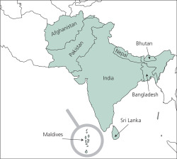Map 1. South Asia