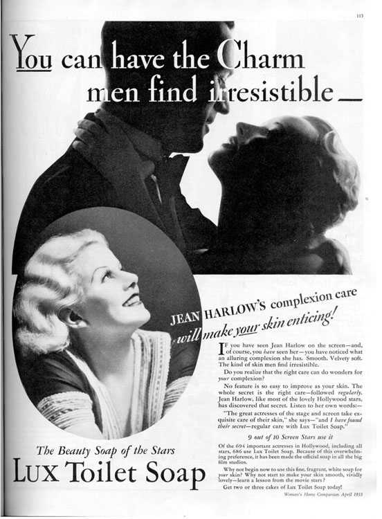 This Lux Ad Ran in America in 193328