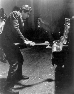 Figure 4. Raphael Montanez Ortiz, Piano Destruction Concert, 1996. Photo documentation of performance, 1967. Photo: Courtesy of the artist.