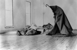 Figure 5. Joseph Beuys, Coyote: I like America and America likes me, May 1974. Photo: Courtesy Exit Art.