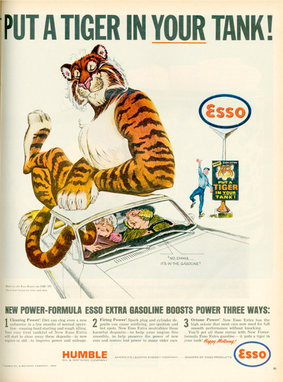 This 1965 Esso Advertisement Appeared in the US11