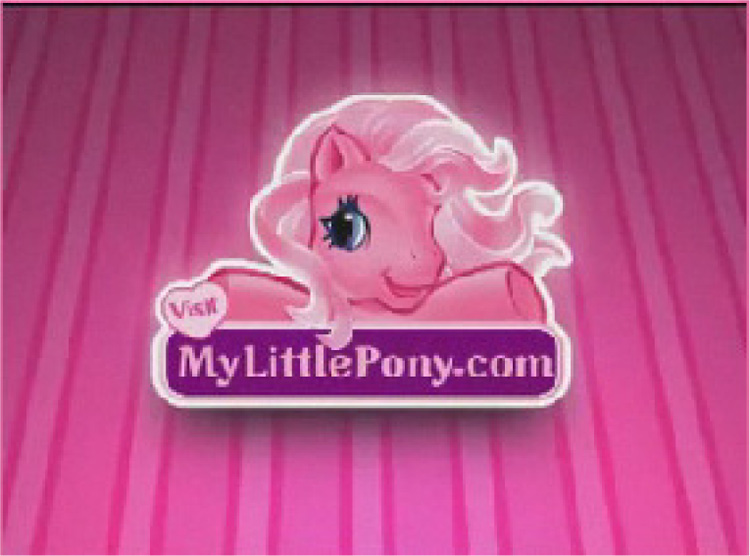 In 2008 the Ponies Have Digital Graphics and a Website with Clubs and Games42