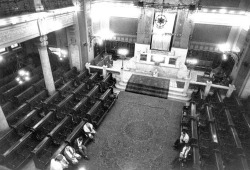 "Figure 2. The ""Gate of Heaven"" Synagogue, Cairo. Interior view."