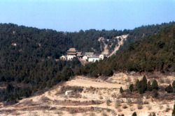 Fig. 3. Kaihuasi. Gaoping Municipality, Shanxi Province. Extant buildings of 11th-18th c. View from the south. Photograph by author.
