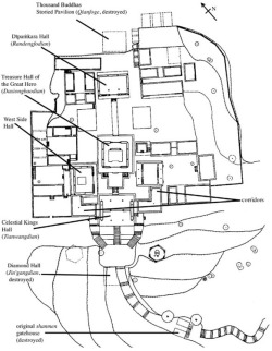 "Fig. 28. Longmensi. Plan of complex. After ""Longmensi baohu guihua,"" p. 34."