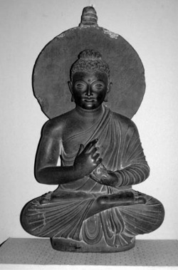 Fig. 39. Buddha. Provenance unknown. H. 96 cm. National Museum, Karachi.