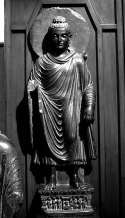 Fig. 46. Buddha. Provenance unknown. H. 139 cm. Lahore Museum.