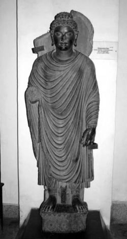 Fig. 58. Buddha. Provenance unknown. Peshawar Museum.