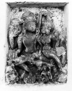 Fig. 4. Umā-Maheśvara. 8th c. Banpur, Lalitpur District, Uttar Pradesh, India. Sandstone. Photograph: Courtesy of the American Institute of Indian Studies, 53616.