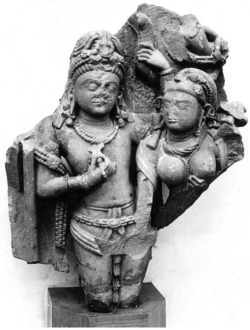 Fig. 14. Hara-Gaurī. 9th c. Bhanpura, Mandasor District, Madhya Pradesh, India. Sandstone. Central Museum, Indore. Photograph: Courtesy of the American Institute of Indian Studies, 33331.