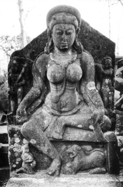 Fig. 18. Ambikā. 9th c. Deogarh, Lalitpur District, Uttar Pradesh, India. Sandstone. Photograph: Courtesy of the American Institute of Indian Studies, 45638.