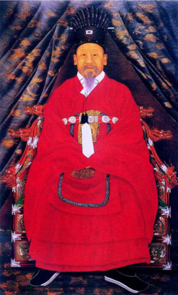 Fig. 8. Portrait of Emperor Gojong. Undated. Ink and color on silk; 210 x 116 cm. National Palace Museum of Korea, Seoul.