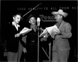 Fig. 4. Radio Stars Performing Before an Open Microphone