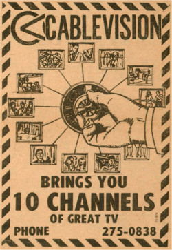 Fig. 5. The Availability of Multiple Channels Offers Viewers More Choices and Fragments the Mass Audiences of TV's Earlier Years (c. 1972)
