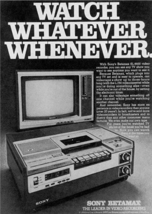 Home Videotape Machines Give Viewers the Ability to Shift Viewing Time