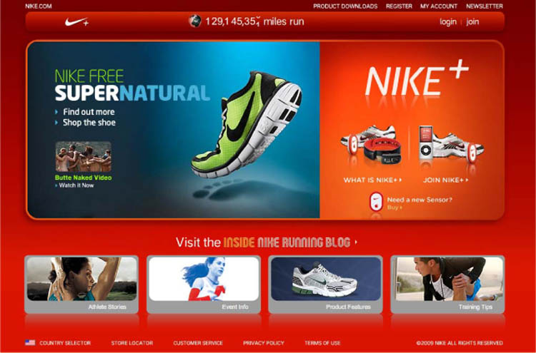 Fig. 11. The Website for Nike+ Is an Example of Involving the Customer with the Brand